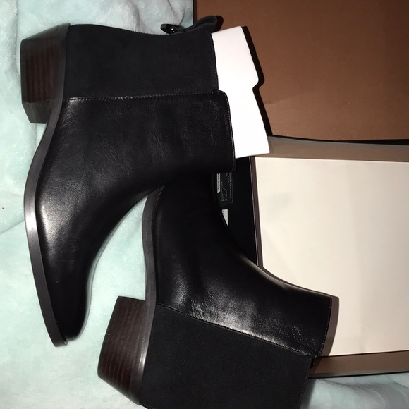 Leather And Suede Coach Booties | Poshmark